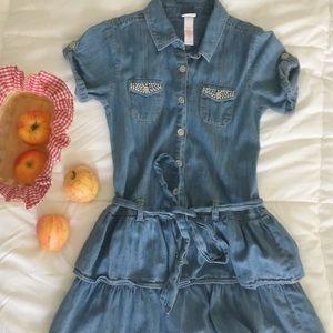 Girl's Justice Button-Up Denim Dress